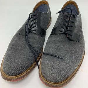 Aldo Mens Lace Up Gray Dress Shoes Size 10.5